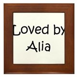 Cute Alia Framed Tile