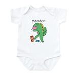 T-Rex Monster Child Art Infant Bodysuit