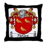 McGee Coat of Arms Throw Pillow