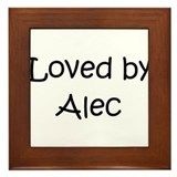 Cute Alec Framed Tile