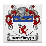 Jennings Coat of Arms Ceramic Tile