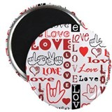 Love WordsHearts Magnet