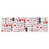 Love WordsHearts Bumper Bumper Sticker