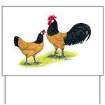 Gold Lakenvelder Chickens Yard Sign