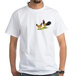Gold Lakenvelder Chickens White T-Shirt