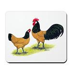 Gold Lakenvelder Chickens Mousepad