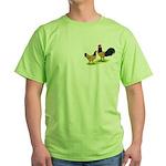 Gold Lakenvelder Chickens Green T-Shirt