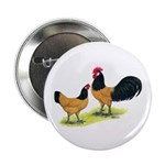 "Gold Lakenvelder Chickens 2.25"" Button (10 pa"