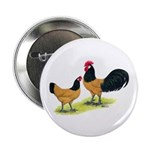 "Gold Lakenvelder Chickens 2.25"" Button"