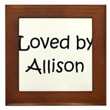 Unique Allison Framed Tile