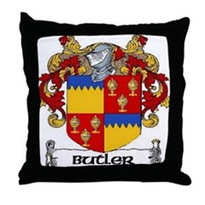Butler Coat of Arms Throw Pillow