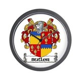 Butler Coat of Arms Wall Clock