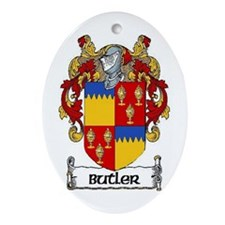 Butler Coat of Arms Ornament (Oval)