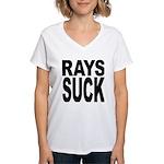 Rays Suck Women's V-Neck T-Shirt