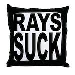 Rays Suck Throw Pillow
