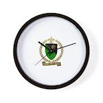 MOISAN Family Crest Wall Clock