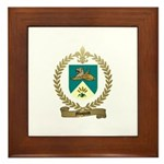 MOQUIN Family Crest Framed Tile
