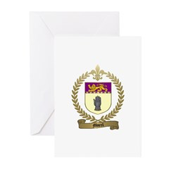 MOREL Family Crest Greeting Cards (Pk of 10)