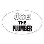 JOE THE PLUMBER Oval Sticker (50 pk)