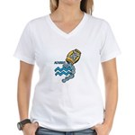 Aquarius Cool Water Design Women's V-Neck T-Shirt