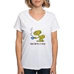 Cofee Alien Women's V-Neck T-Shirt
