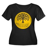 Planteth A Tree Women's Plus Size Scoop Neck Dark
