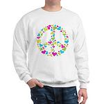 Love in Peace. Bunch of heart Sweatshirt