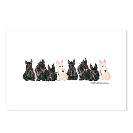 Autumn Scottie Wheaten Postcards (Package of 8)