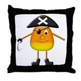 Candy Corn Pirate Throw Pillow