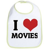 I Love Movies Bib