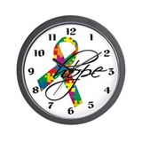 Autism Ribbon Hope Wall Clock