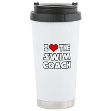 """I Love The Swim Coach"" Ceramic Travel Mug"