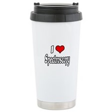 """I Love Spectroscopy"" Ceramic Travel Mug"