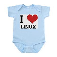 I Love Linux Infant Creeper