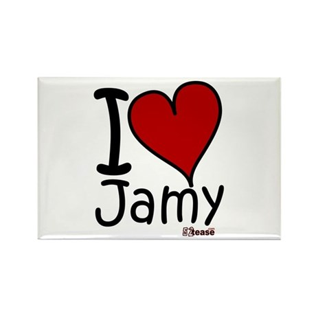 I Love Jamy Rectangle Magnet
