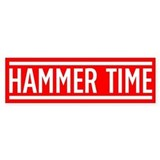Hammer Time Car Sticker