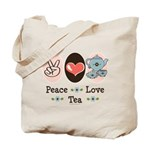 Peace Love Tea Tote Bag