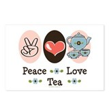 Peace Love Tea Postcards (Package of 8)