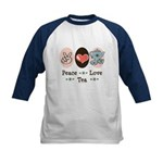 Peace Love Tea Kids Baseball Jersey