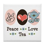 Peace Love Tea Tile Coaster