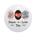 Peace Love Tea Ornament (Round)