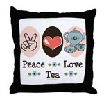 Peace Love Tea Throw Pillow