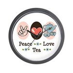 Peace Love Tea Wall Clock