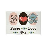 Peace Love Tea Rectangle Magnet (100 pack)