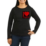 I Love Angels Women's Long Sleeve Dark T-Shirt