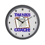 Thanks Coach Wall Clock