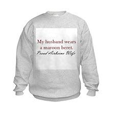 Husband Maroon Beret Sweatshirt