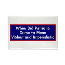anti-war anti-bush patriotic Rectangle Magnet
