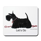 Scottish Terrer Let's Go! Mousepad