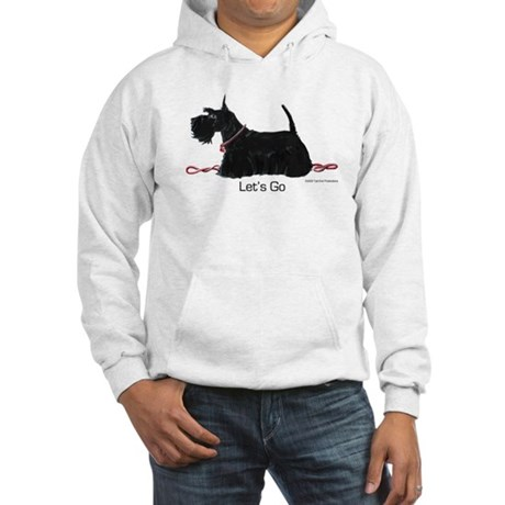Scottish Terrer Let's Go! Hooded Sweatshirt